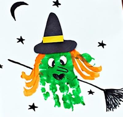 Ведьма из отпечатка ладошки