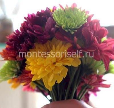 Делаем пышный букет из цветов
