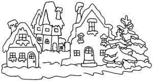 Раскраска зима 5