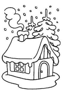раскраска снежный домик