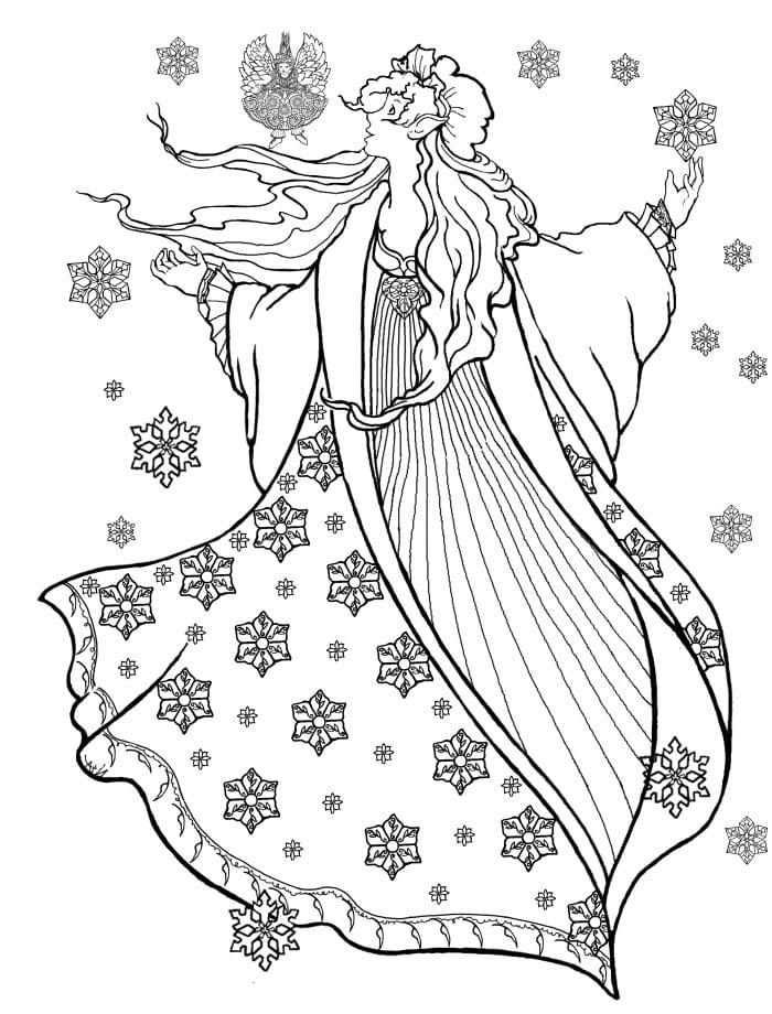 девушка зима раскраска раскраска девушка зима