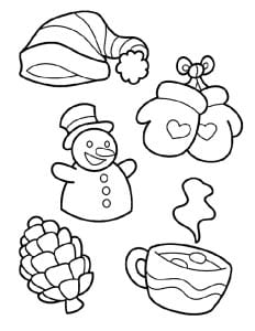 раскраска символы зимы