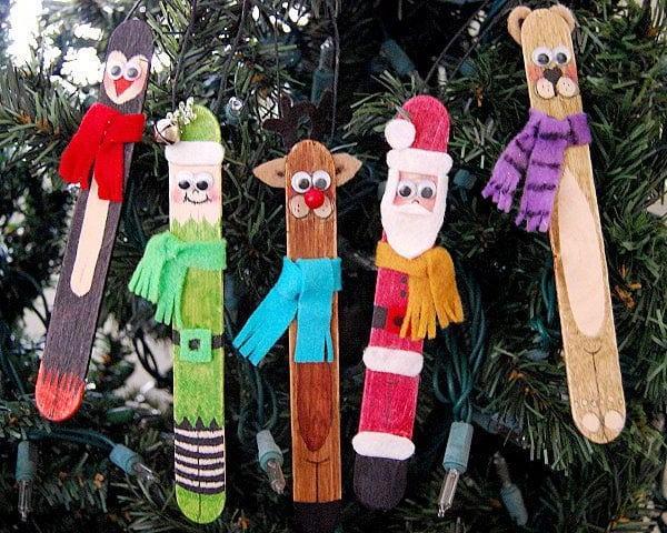 Новогоднее украшение на елку своими руками 2