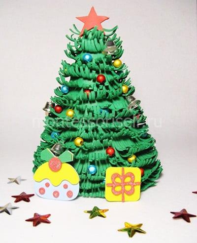 Поделка на Новый Год елочка из фоамирана