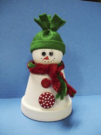 Снеговик из пластикового стаканчика