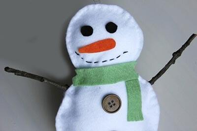 Набили снеговика