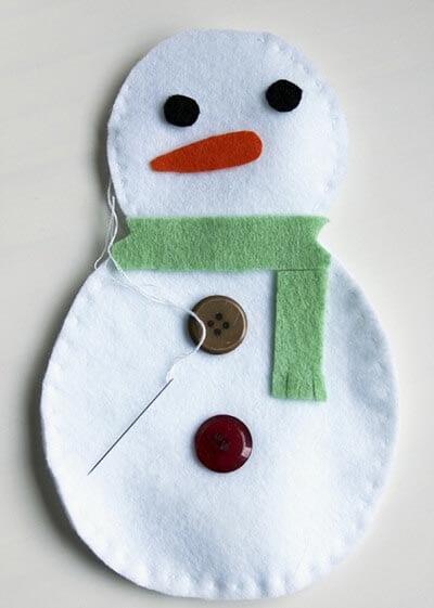 Детские подделки  снеговик