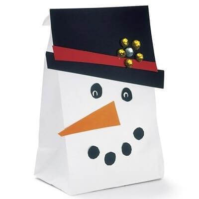 Снеговик из одноразового пакета