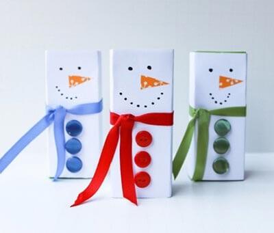 Снеговик из коробки