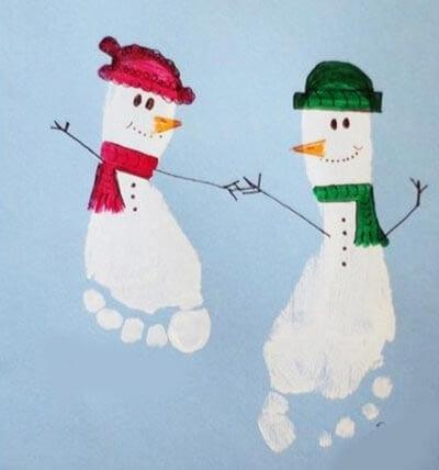 Как сделать снеговику ножки