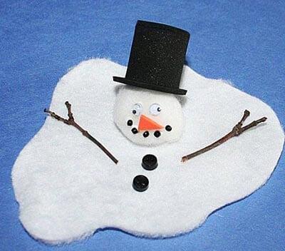 Снеговики из теста своими руками