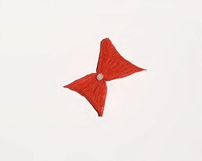 Красный бантик
