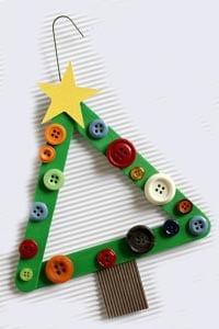 Поделка из палочек от мороженого новогодняя елка 8