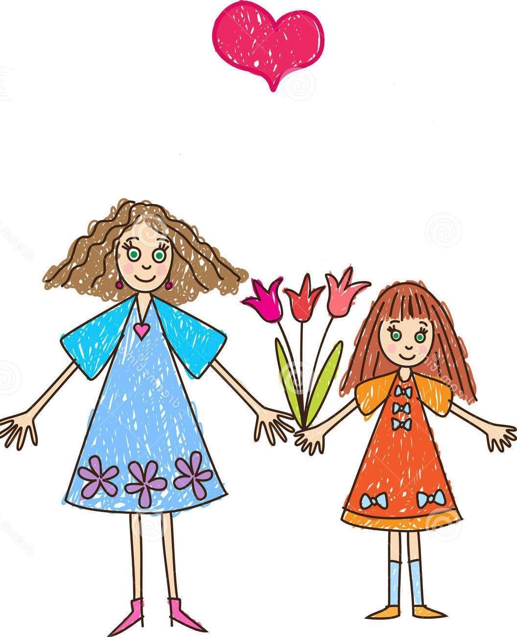 Рисунок на День матери в подарок