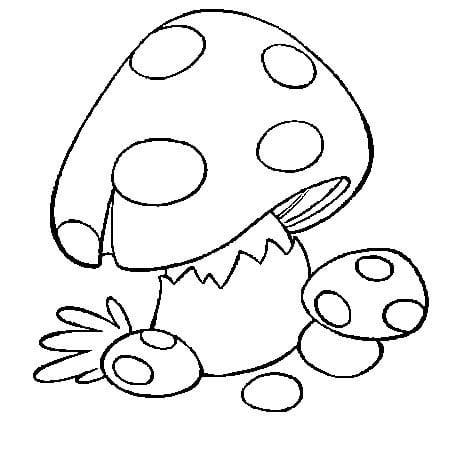 Раскраски грибы для детей - 8