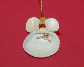 Christmas Angel from Seashells 5