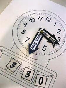 Часы своими руками из картона в школу 4