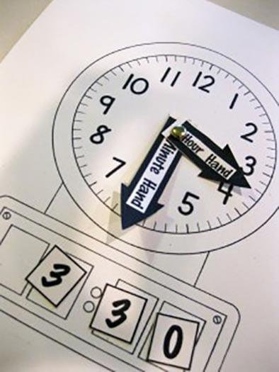 Модель часов из картона своими руками