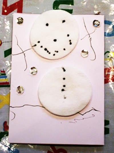 Открытка со снеговиком