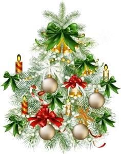 Новогодняя елка картинка для детей 2