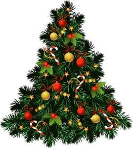 Новогодняя елка картинка для детей 5