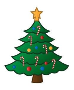 Новогодняя елка картинка для детей 17