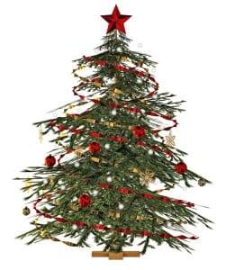 Новогодняя елка картинка для детей 15