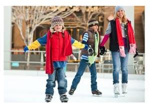Зимняя забава - катание на коньках