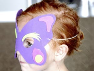Butterfly mask with your own hands 2