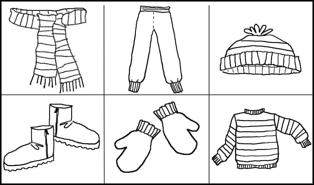 Картинки зимняя одежда