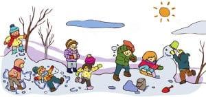 Зимние забавы картинки для детей 2