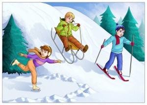 Зимние забавы картинки для детей 3