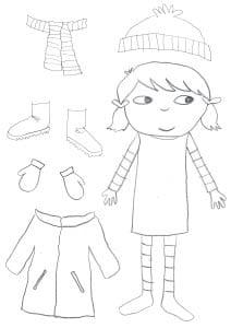 Раскраска одежда для девочки