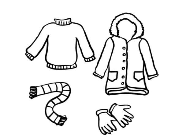 Раскраска одежда для детей 3-4 лет