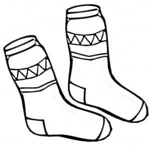 Раскраска носочки