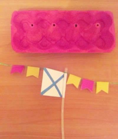 Делаем флажки и флаг из цветной бумаги
