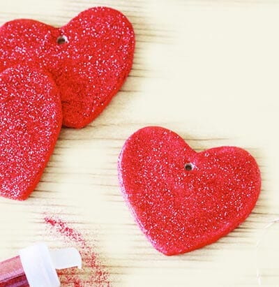 Сердечки с блестками