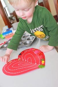Сердечко украшаем пуговицами