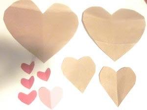 Сердечки разных размеров