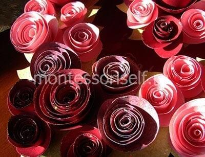 Украшаем основание розами