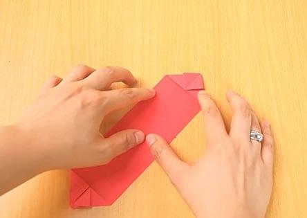 Объемный танк оригами 14
