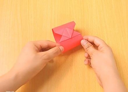 Объемный танк оригами 15
