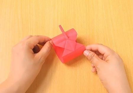 Объемный танк оригами 17