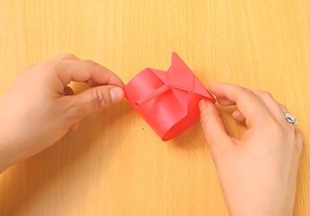 Объемный танк оригами 18