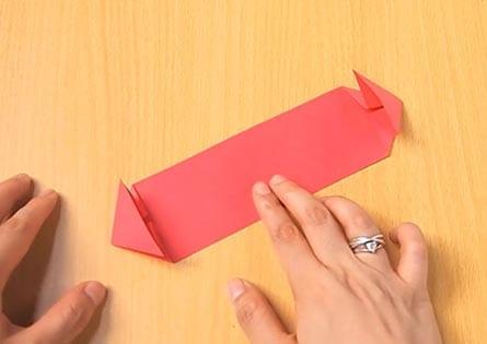 Объемный танк оригами 8