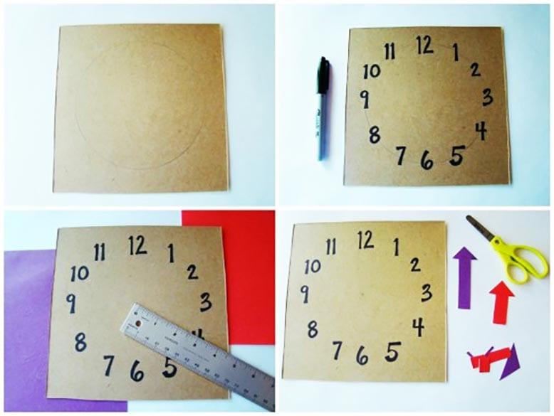 Как сделать картонные часы своими