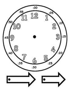 макет часов для изучения времени распечатать