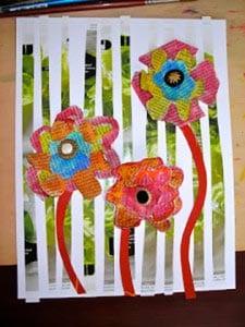 Цветы из бумаги на 8 марта 1