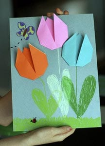 Аппликация тюльпаны на 8 марта