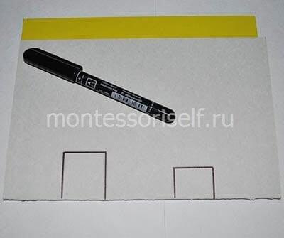 Рисуем на сгибе квадратики